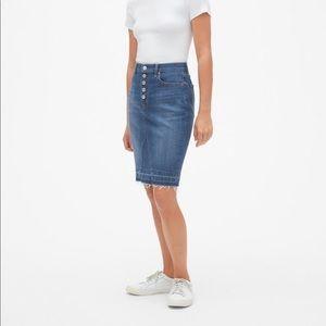 GAP Button Fly Denim Skirt